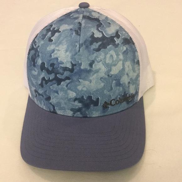 OS COLUMBIA WOMENS BLUE CAMO MESH SNAPBACK CAP 62a744104a